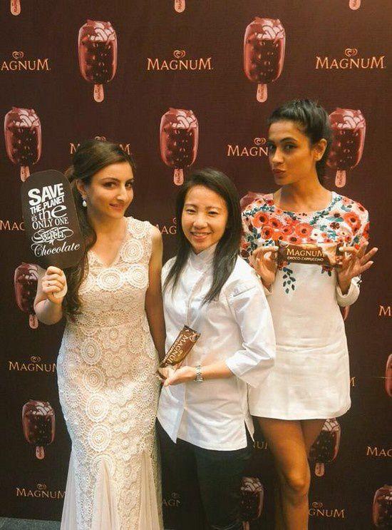Soha Ali Khan à la présentation de la glace Magnum Cappuccino