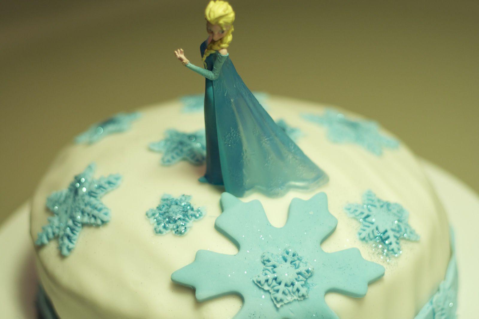 Gâteau damier de la Reine des neiges