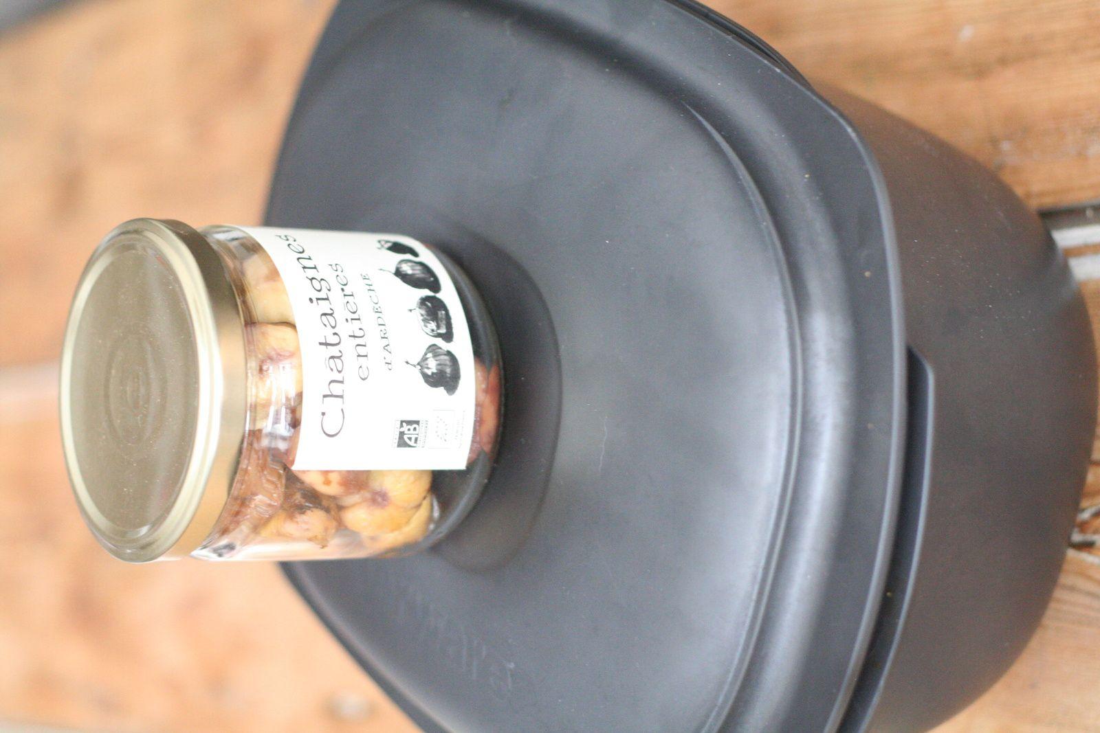 Poulet rôti et sa sauce à la châtaigne