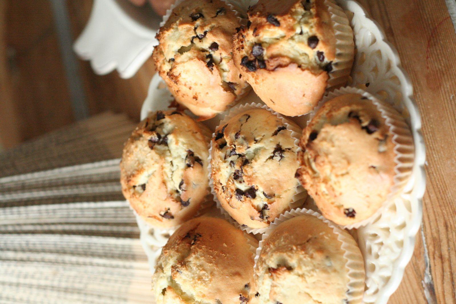 Muffins au lait de coco et aux pépites de chocolat Weiss