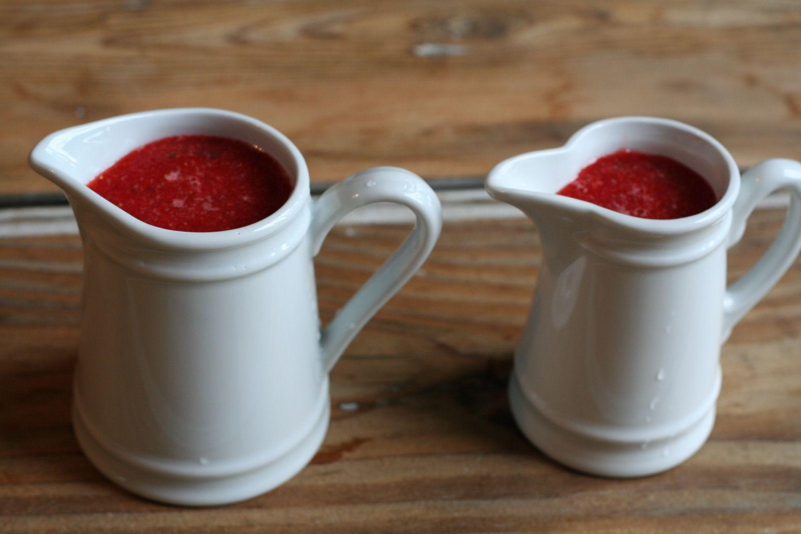 Soupe de fraises au jus d'orange
