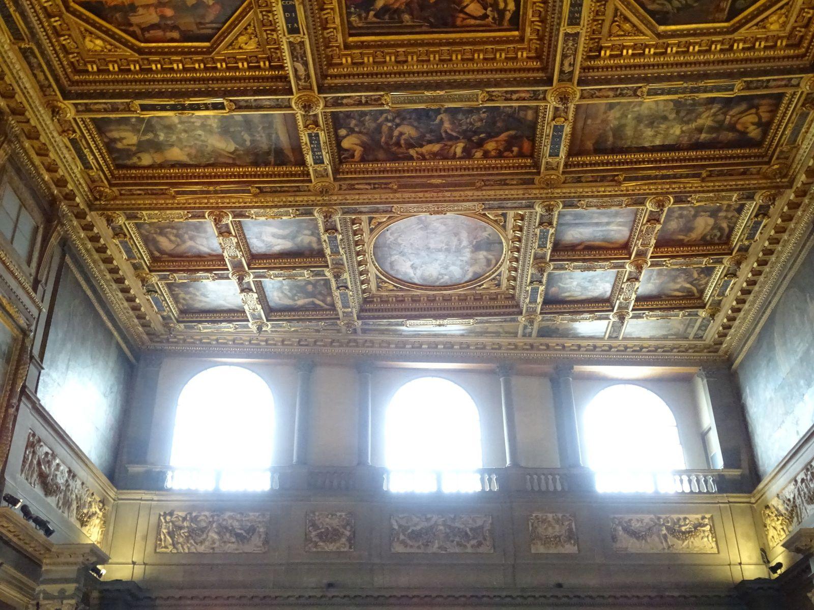 Palazzo Vecchio, Florence : cour de Michelozzo - Salle des Cinq-Cents