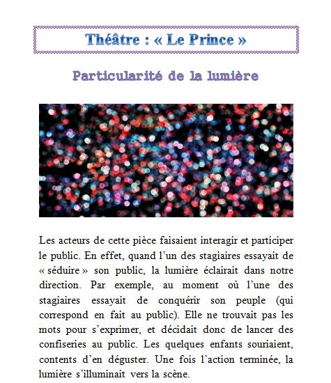 Lumière - Le Prince