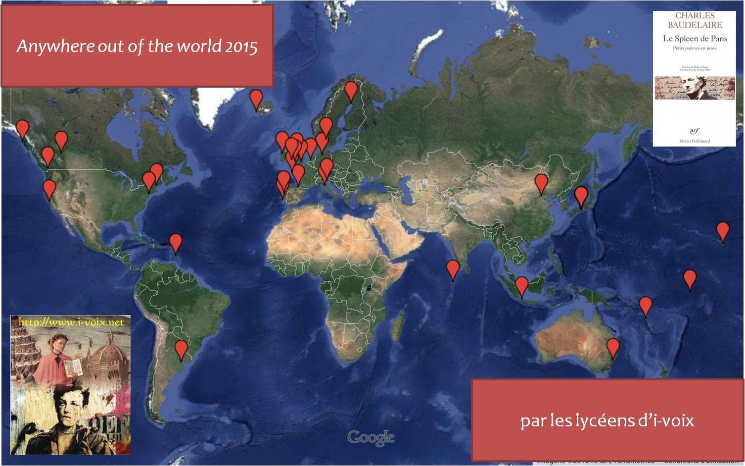 Anywhere out of the world 2015 - Cartographie poétique
