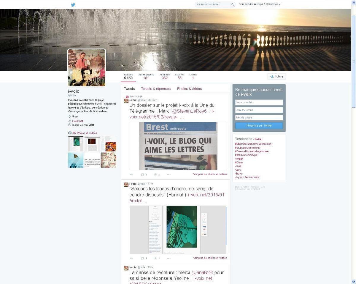 Twitpoème polyphonique - De feuille en feuille