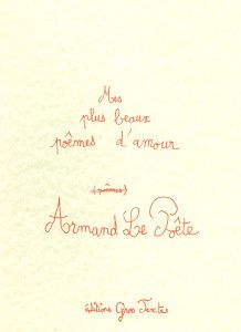 Eléments bibliographiques - Armand Le Poête