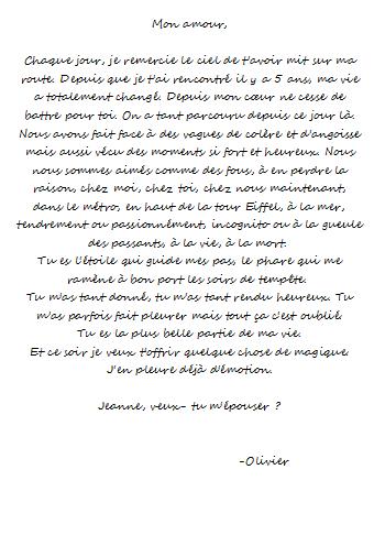 Création - Les lettres d'amour d'une vie
