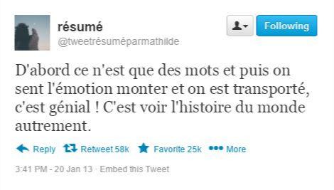 Tweet-résumé - Louise Dupré
