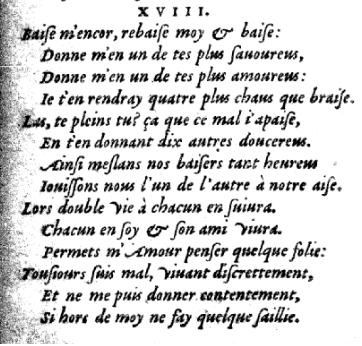 Vers retrouvés - Louise Labé Sonnet XVIII