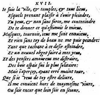 Vers retrouvés - Louise Labé Sonnet XVII