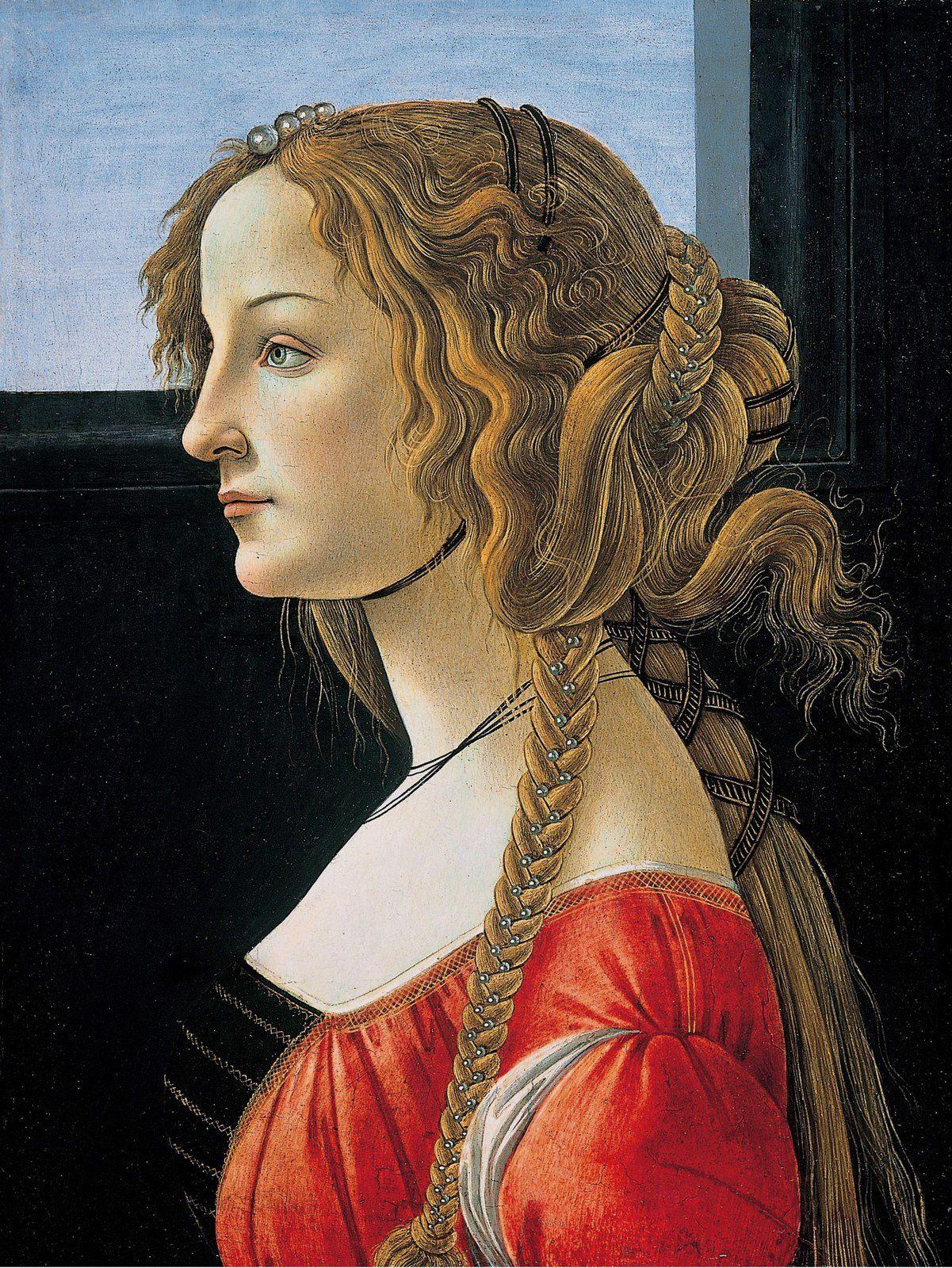 Boticelli - Portait d'une jeune femme (1480)