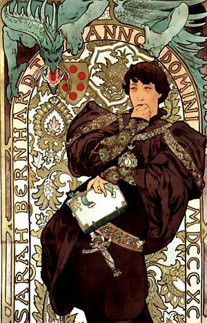 Alphonse Mucha - Affiche pour Lorenzaccio (1896)
