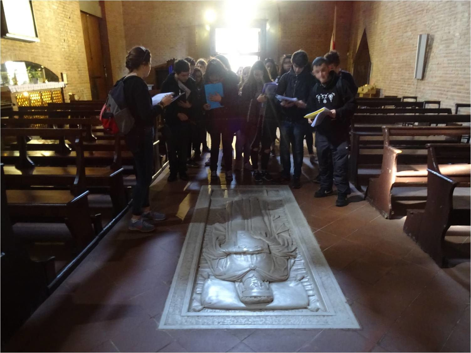 16-03-16, Eglise de Certaldo Alto, Sépulture de Boccace