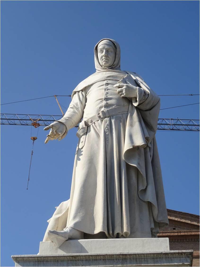 Certaldo, 17-03-16 : Attente du funiculaire sous le regard de Boccace ...