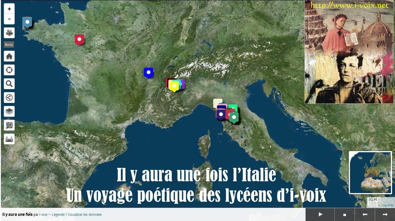 Géolittératie - Il y aura une fois un voyage en Italie