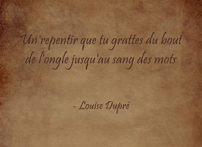 Fulguration - Louise Dupré