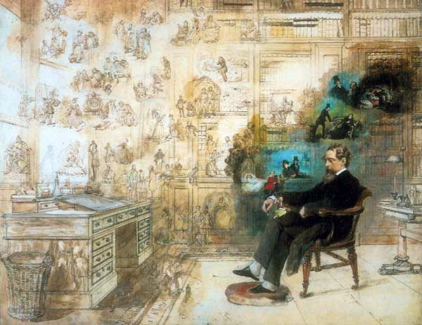 Le rêve de Dickens (ou Dickens dream) par Robert William Buss, 1870