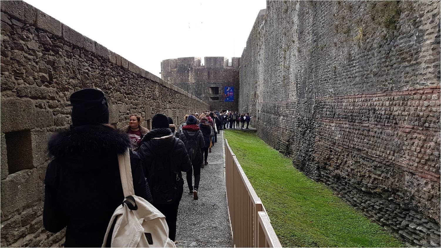Arrivée au  Château de Brest