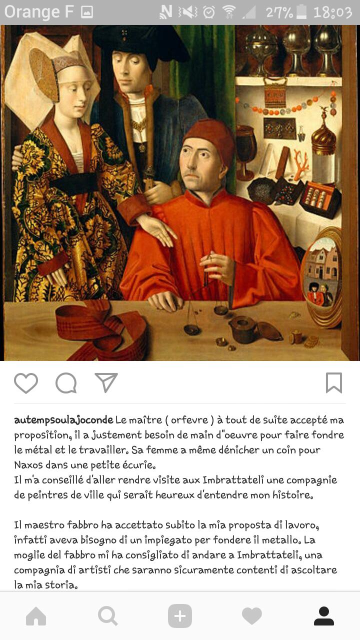 Détournement - Au temps où la Joconde parlait sur Instagram