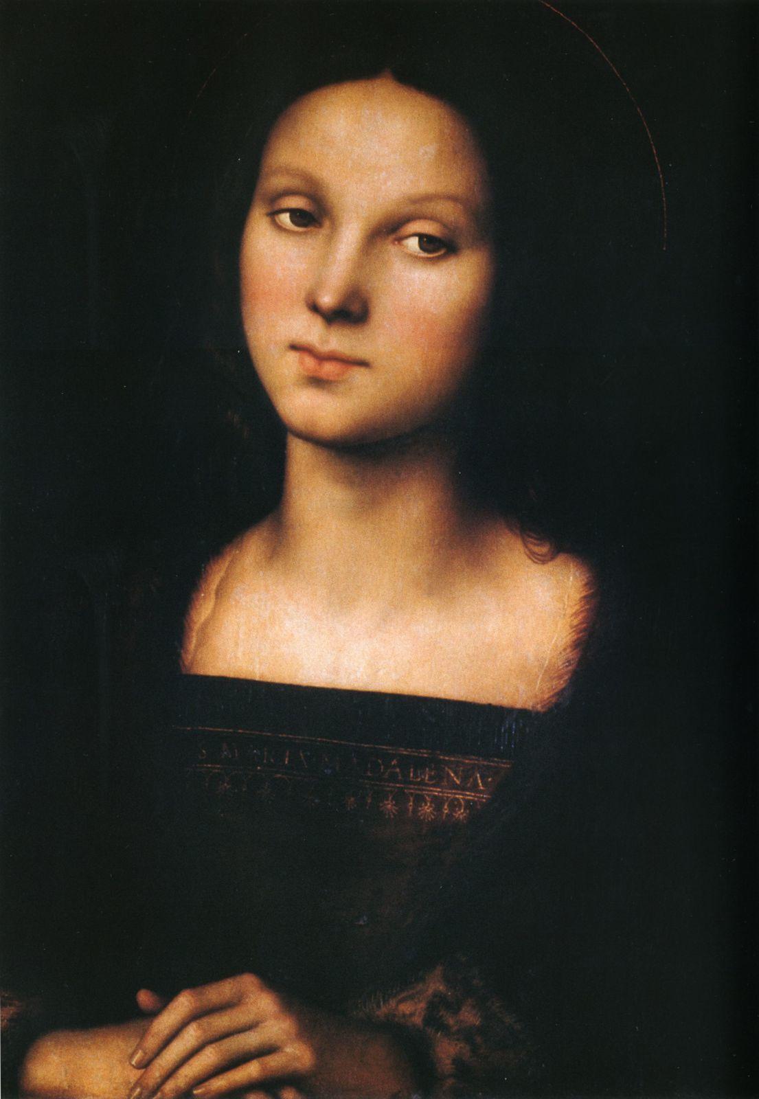 Marie-Madeleine, peinture religieuse à l'huile sur bois du Pérugin, 1500 environ, conservée à la Galerie Palatine au Palazzo Pitti à Florence.