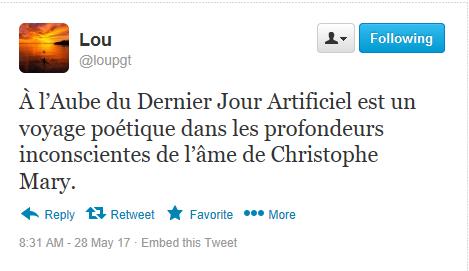 Tweet-résumé - Christophe Mary