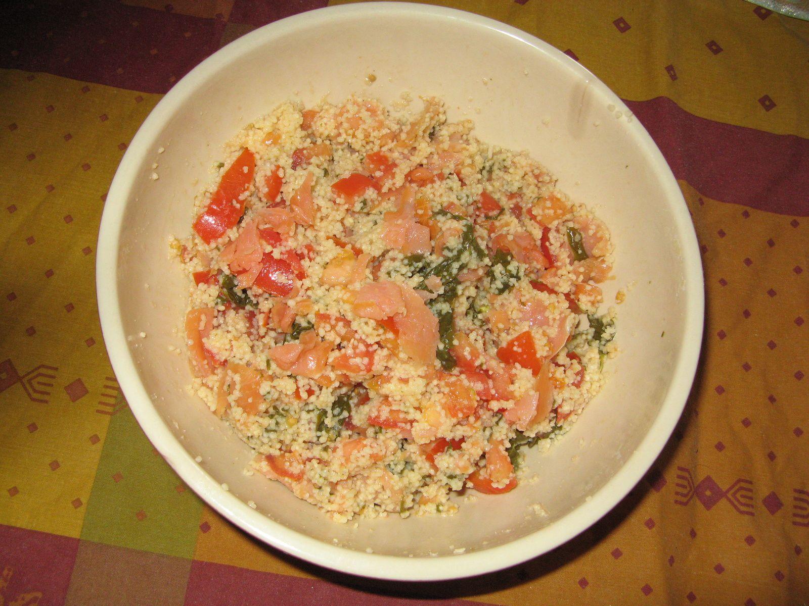 Salade de coucous au saumon fumé - crédit photo Isabelle Rhaimbault