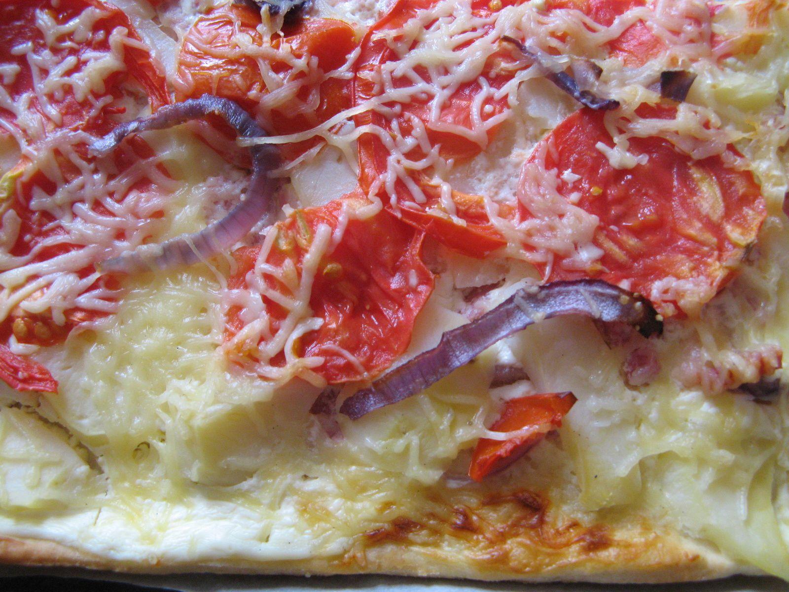 """pizza paysanne - crédit photo """"Les petits ateliers d'Isa"""""""