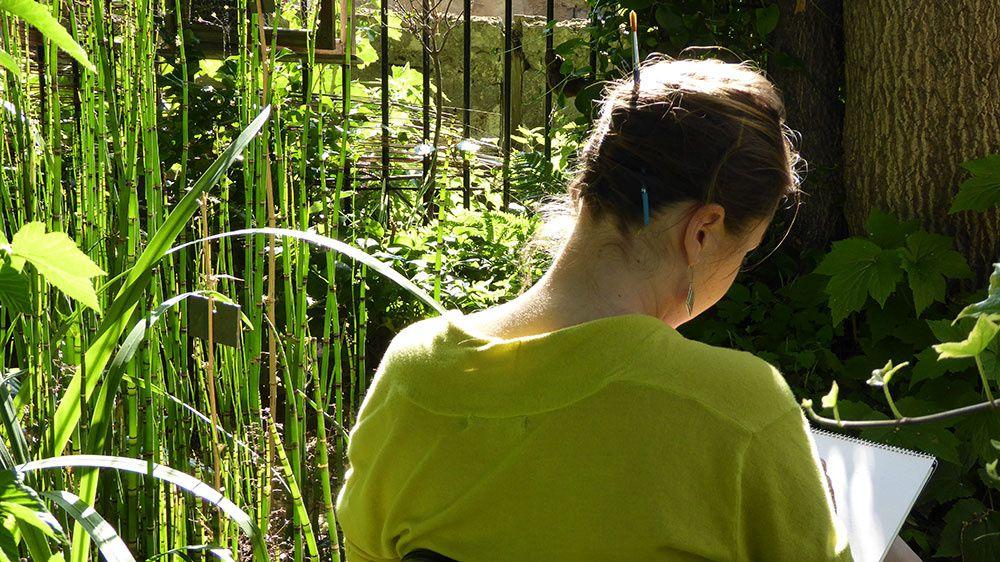 Douceur dans un jardin partagé parisien