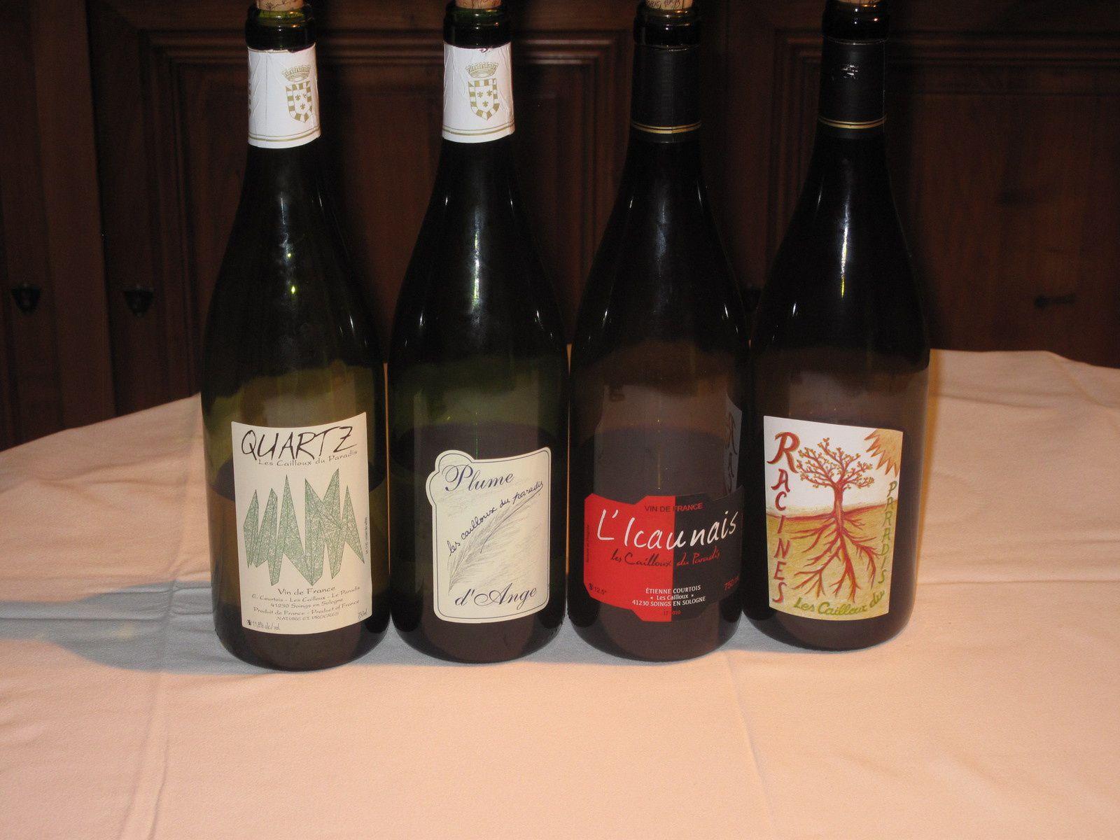 Les Cailloux du Paradis: dégustation de 4 vins