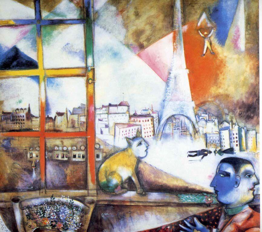 Paris par la fenêtre- Marc Chagall