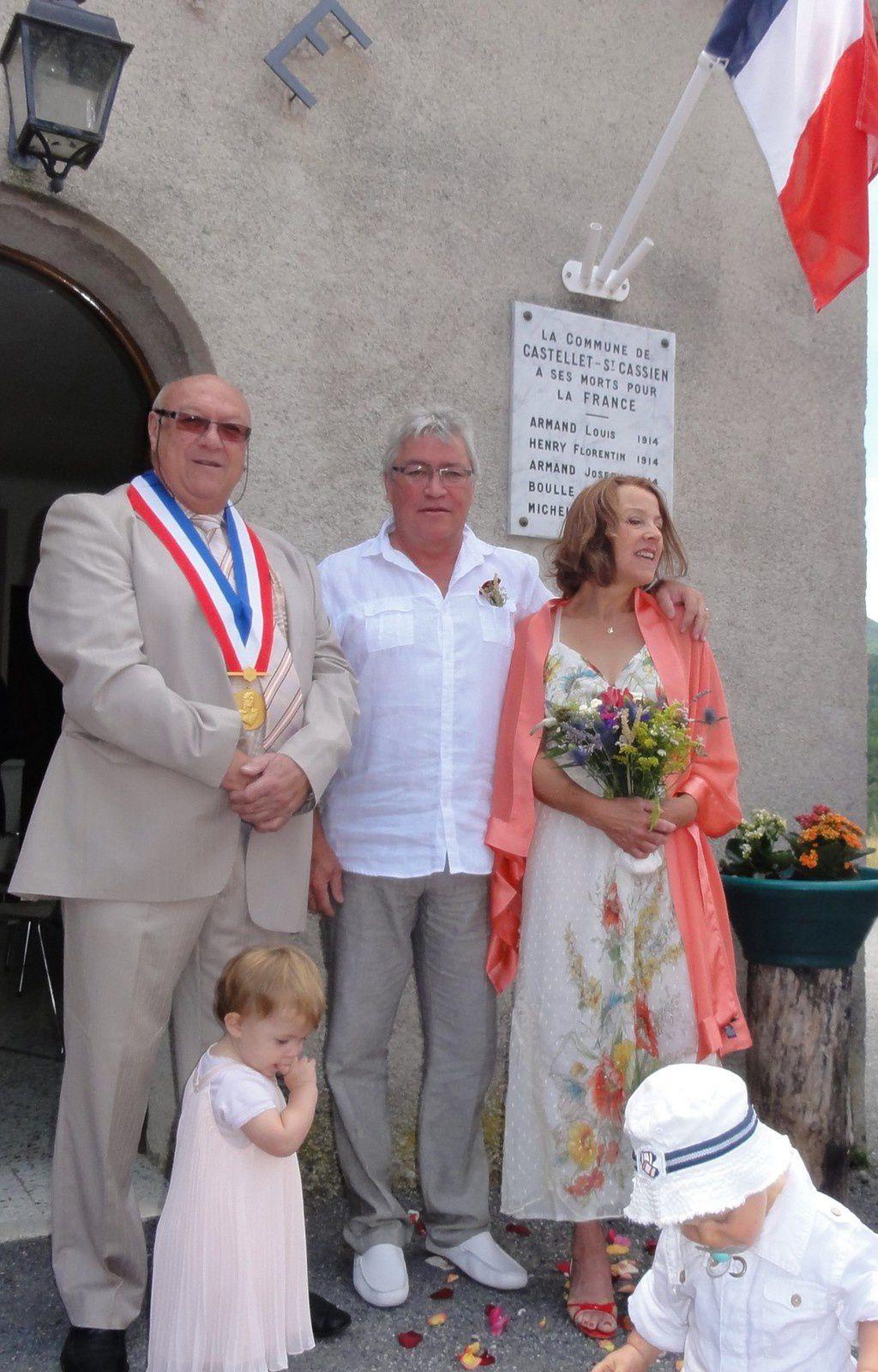 Toutes nos félicitations à Marie-Laurence et Michel.