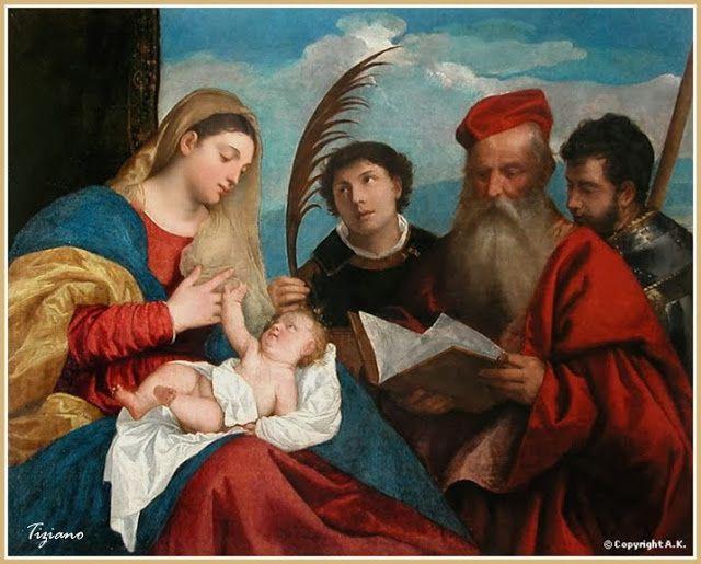 Titien- Vierge allaitant