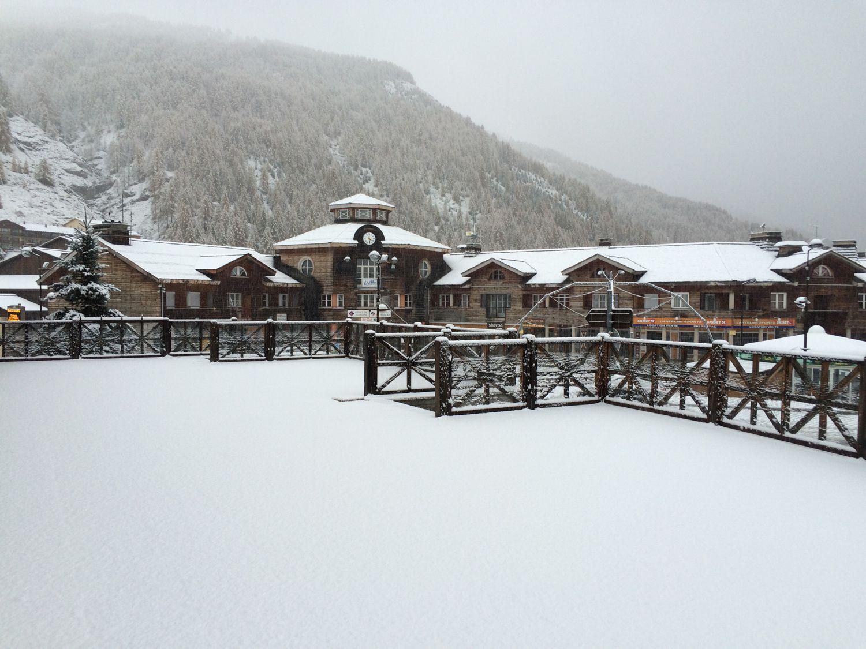 Val d'Allos première chute de Neige