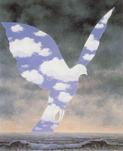 Picasso (Pablo)_La colombe de la paix -1949 & Magritte-La grande famille