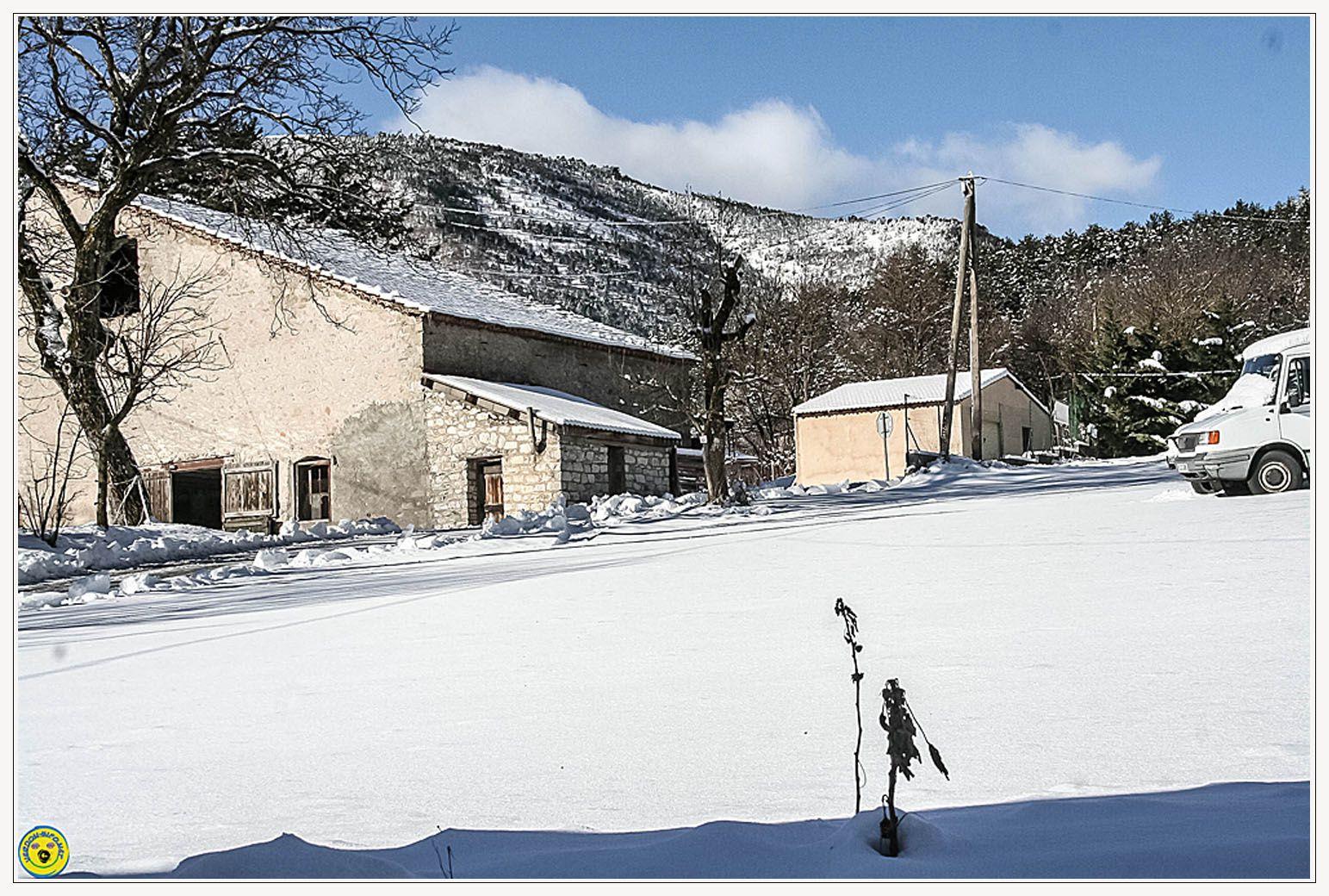 31 janvier 2015 quelques centimètres de neige à la Mure
