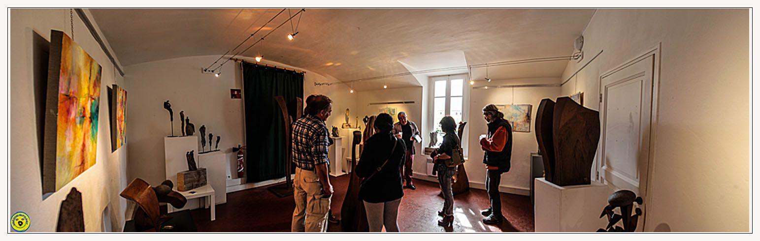Une visite s'impose pour bien apprécier les oeuvres , les couleurs , les aspects , la perception de la créativité