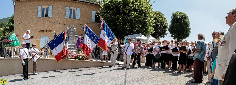Lambruisse 71 anniversaire  de la tragédie du moulin et de la ferme de Laval