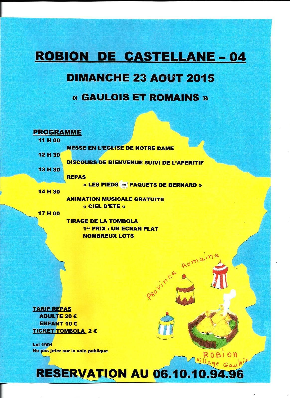 Fête de Robion le 23 août