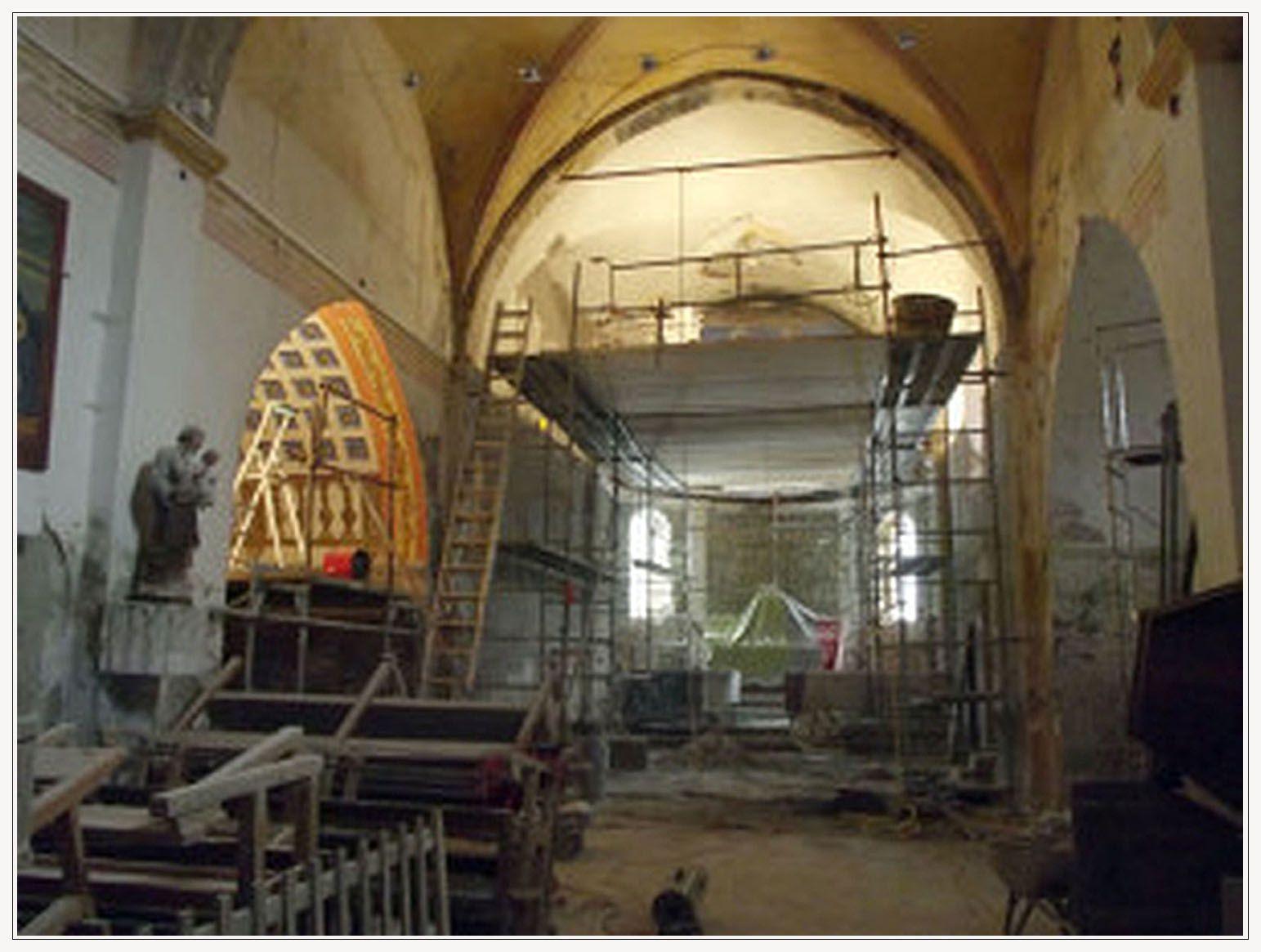L'église de Blieux en travaux: suite et fin.