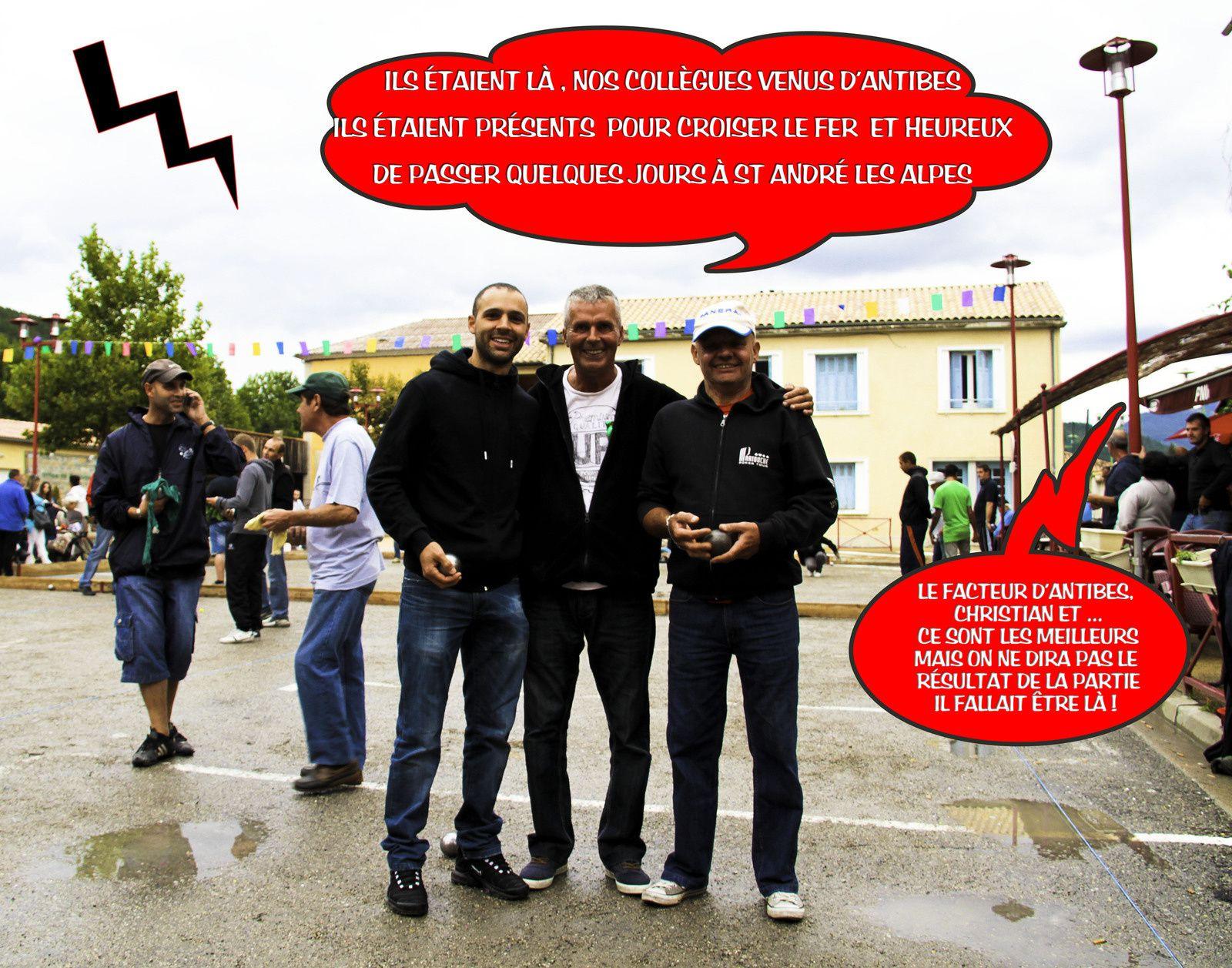 Christian et ses collègues aiment bien St André les Alpes et nos photos nos bulles  , ils sont sympa nos Antibois