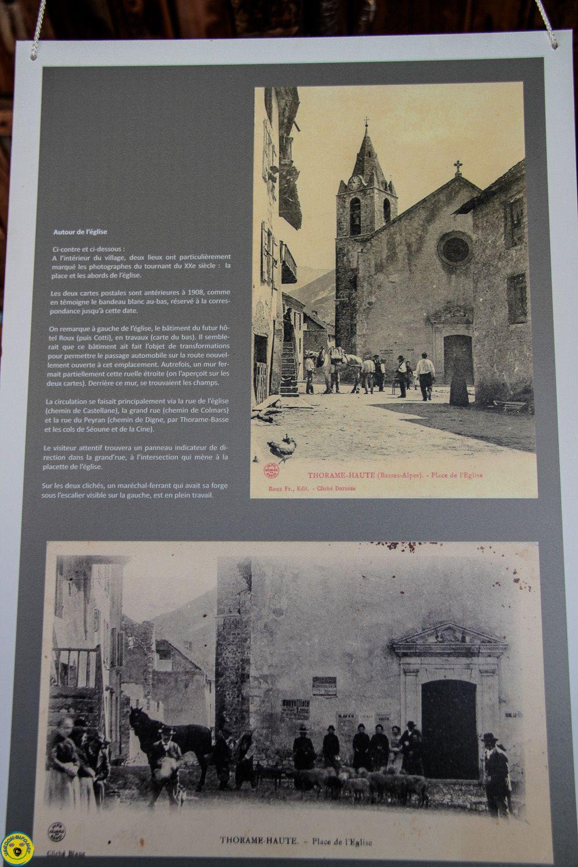 Exposition cartes postales anciennes lavoir de Thorame Haute