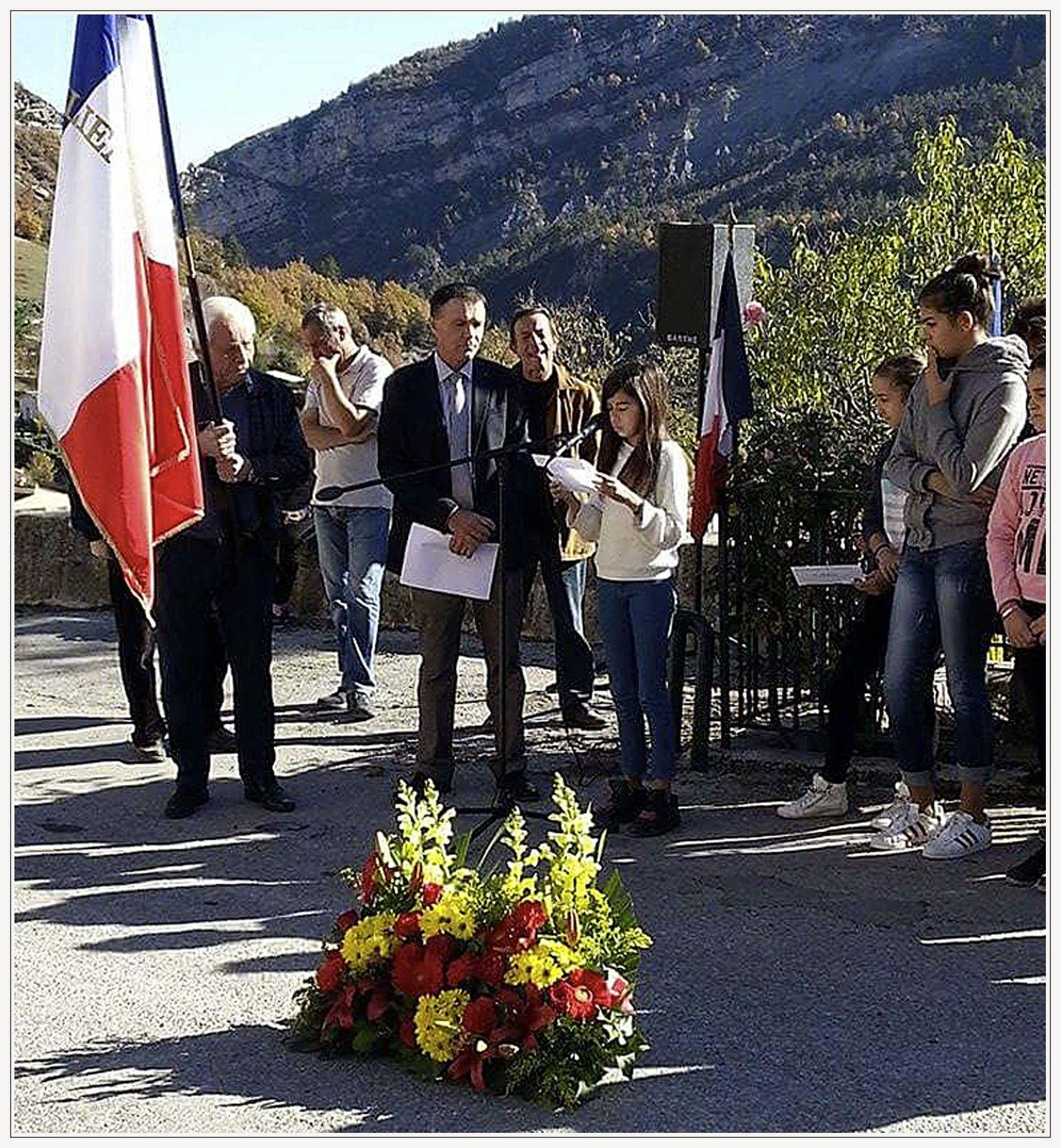 St Julien du Verdon  : Hommage à tous les morts pour la France