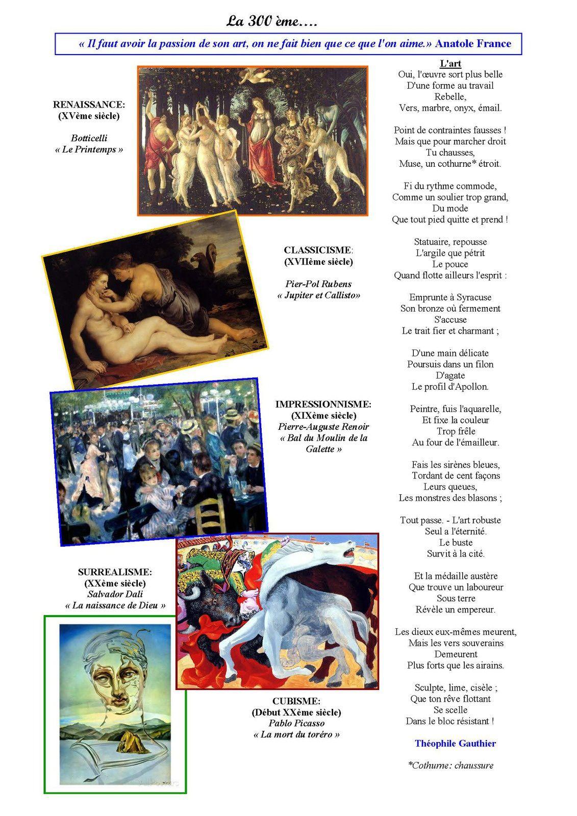La page poésie d'Odile  : la 300 ème