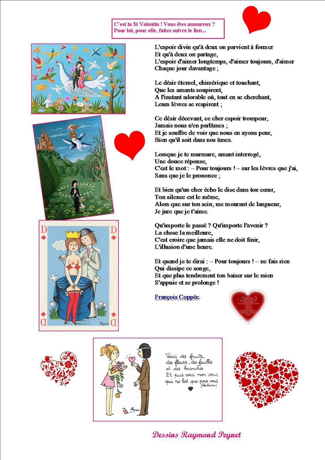 La page poésie d'Odile  : La St Valentin