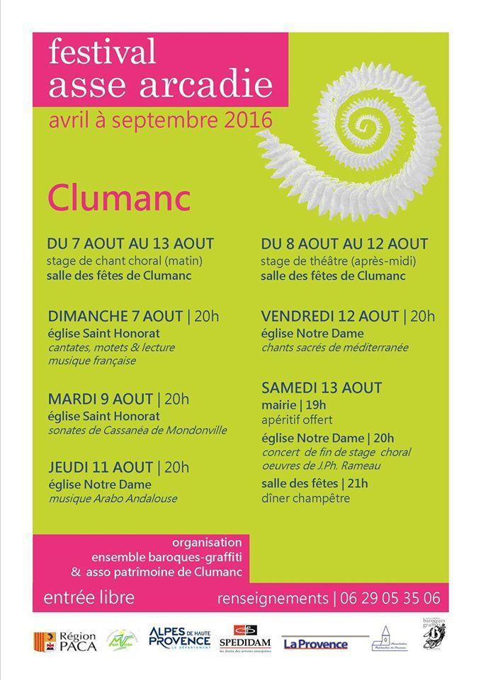 Le festival Asse Arcadie  clap de cloture 2016