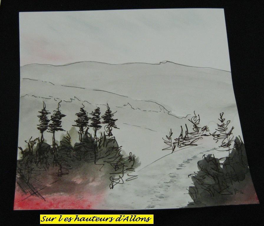 Exposition de dessins à Allons
