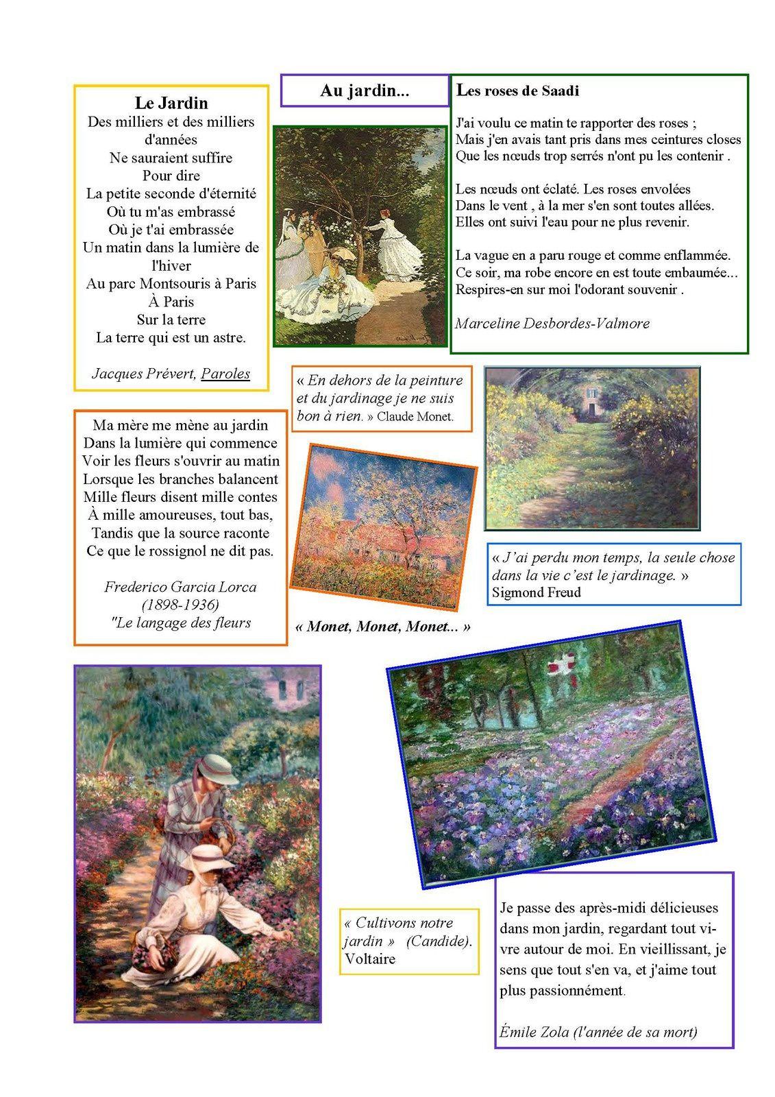 La page poésie d'Odile &quot&#x3B; jardin&quot&#x3B;