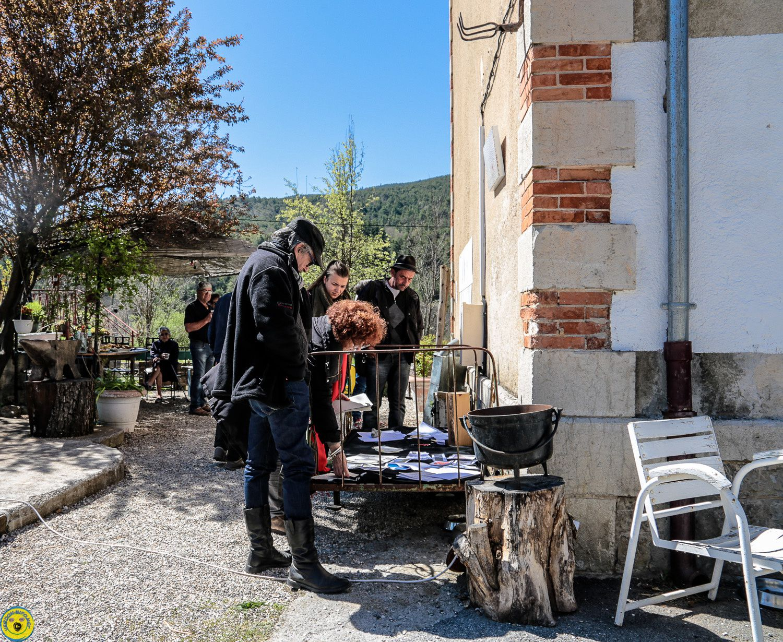 Expo rétrospective d'Andrée Bélanger gare de Moriez