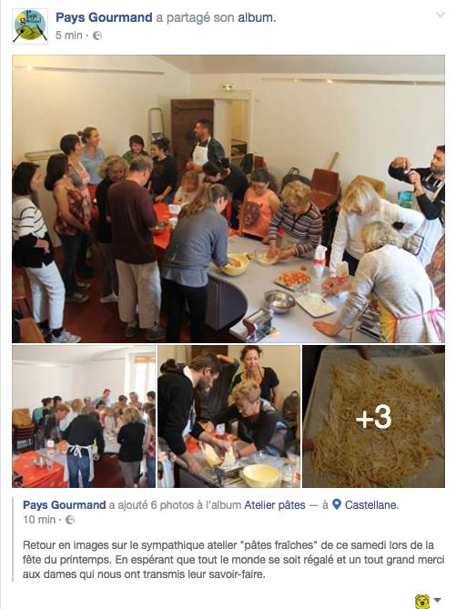 Castellane  : Atelier pâtes pour la fête du printemps