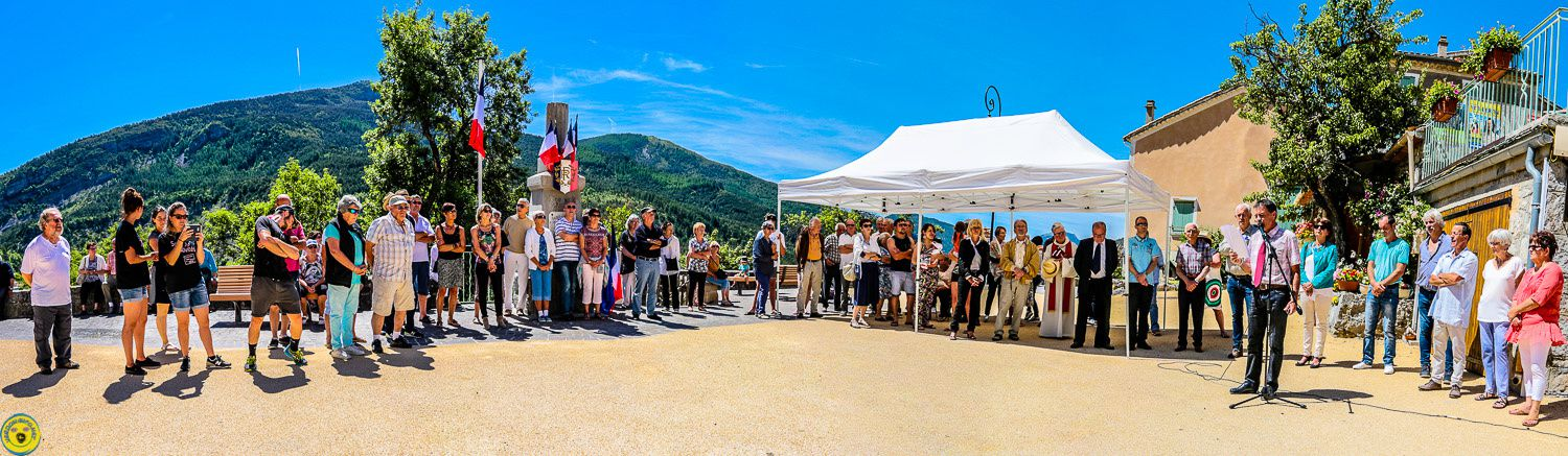 St Julien du Verdon :  inauguration de la place